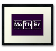 Mother - Periodic Table Framed Print