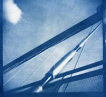 Cyanotype: Millenium Bridge, York by John Tuffen