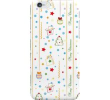 Christmas texture with gifts tree balls ribbon iPhone Case/Skin