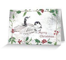 "Nostalgic Geese ""Merry Christmas"" ~ Greeting Card Greeting Card"
