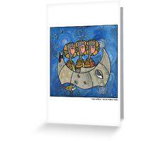 Moon sailing Greeting Card