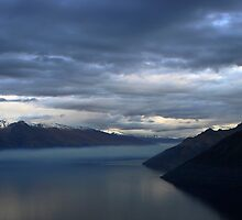 Night on Lake Wakatipu New Zealand 2 by jwwallace