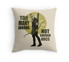 Too Many Arrows - Not Enough Orcs Throw Pillow