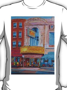 MOVIE THEATRE MONTREAL RIALTO CANADIAN ART CANADIAN PAINTINGS BY CANADIAN ARTIST CAROLE SPANDAU T-Shirt