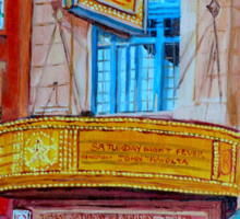 MOVIE THEATRE MONTREAL RIALTO CANADIAN ART CANADIAN PAINTINGS BY CANADIAN ARTIST CAROLE SPANDAU Sticker