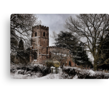St Botolph's Church, Rugby, Warwickshire Canvas Print