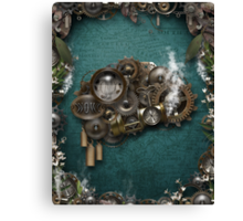 Steampunk On The Brain Canvas Print