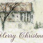 Rural Barn Christmas Scene by ClaireBull