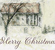 Rural Barn Christmas Scene by ClaireBull