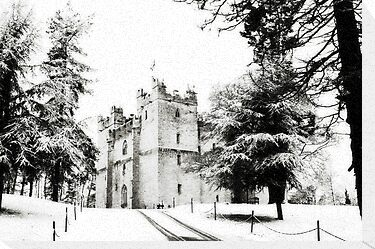 castle in the snow by Deborah Parkin