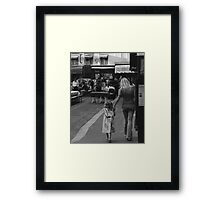 Mother and Daughter at Rue. St. Benoit Framed Print