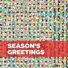 Season's greetings - geometric design by drunkonwater