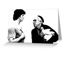 Mickey and Rocky. Respect. Greeting Card