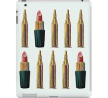 Lipsticks and Bullets iPad Case/Skin
