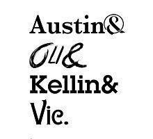 Austin Carlile Oli Skyes Kellin Quinn Vic Fuentes Photographic Print