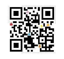 QR Pacman Photographic Print