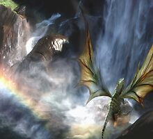 Water Dragon Rainbow by Cliff Vestergaard
