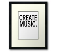 Austin Carlile Create Music Shirt Framed Print