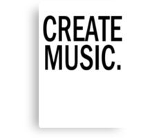 Austin Carlile Create Music Shirt Canvas Print