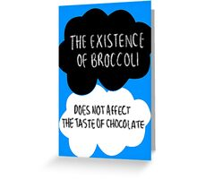 The Existence of Broccoli Greeting Card