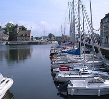 Honfleur Harbour, France by Mark Wilson