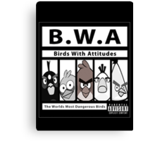 Birds With Attitudes Canvas Print