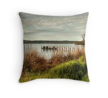 Jetty at the Inlet Throw Pillow