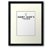 Mary jane's Herbal Remedy Framed Print