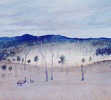 Biggenden Emus by Cary McAulay