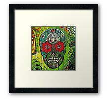 Day of dead sugar art skull graffiti gifts Framed Print