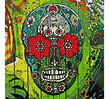 Day of dead sugar art skull graffiti gifts Photographic Print