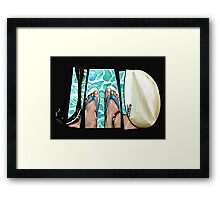 The Swimmer - White Framed Print