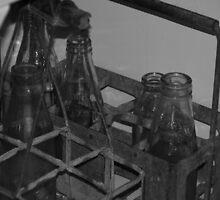 Milk Bottles c.1940 by Justine Humphries