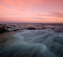 Newcastle Beach at Dusk 1 by Mark Snelson