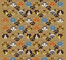 Cat Faces by ianablakeman