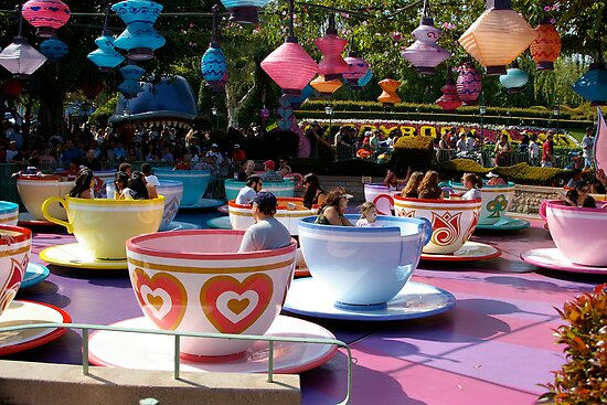 Tea cups at Disneyland by pinkchampagne