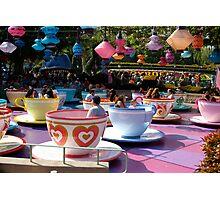 Tea cups at Disneyland Photographic Print