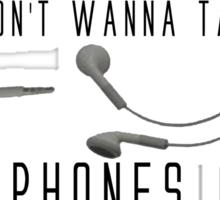 Earphones Music Funny Design Sticker
