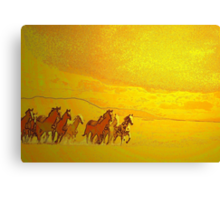 Windcatchers'... Canvas Print
