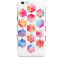 Radiant Hexagons - geometric watercolor painting iPhone Case/Skin