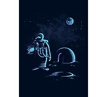 Penguin in space Photographic Print