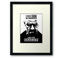 Breaking Bad - Heisenberg - I am the danger! T-shirt Framed Print