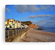 Sidmouth Sea Front Canvas Print