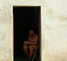 Old Shoemaker, Valladolid, Mexico by Cryingbull