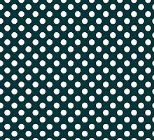 Emerald Green Polka Dots by giraffoarts