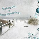 """Wishing You a Winter Wonderland"" ~ Greeting Card by Susan Werby"