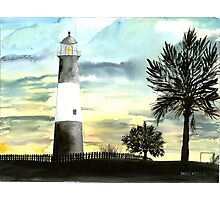 Tybee Island, GA Lighthouse Photographic Print