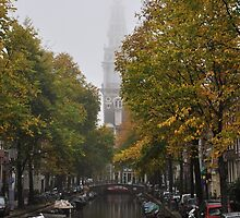 Zuiderkerk on a foggy day by Hilda Rytteke