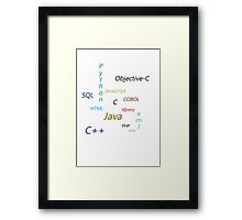 Programming Languages Framed Print