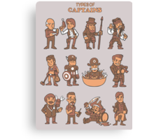 Types of captains Canvas Print